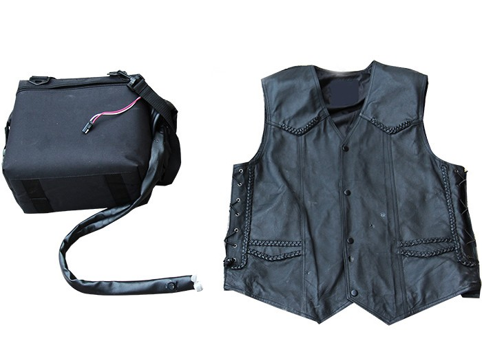 Air Cooling Vest : Motorcycle cooling vest electric hogcooler air